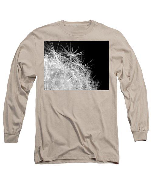Water Drops On Dandelion Long Sleeve T-Shirt