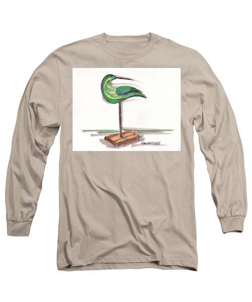 Water Fowl Motif #3 Long Sleeve T-Shirt