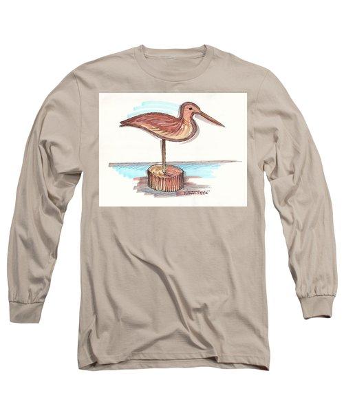 Water Fowl Motif #4 Long Sleeve T-Shirt