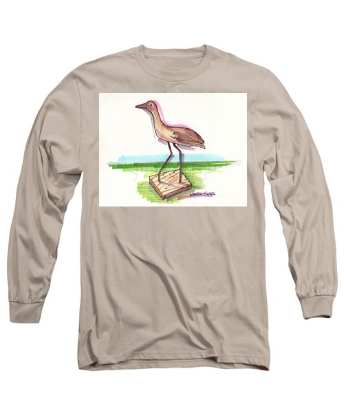 Water Fowl Motif #5 Long Sleeve T-Shirt