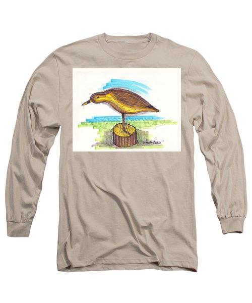 Water Fowl Motif #7 Long Sleeve T-Shirt