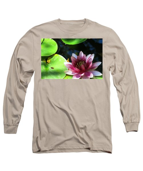 Water Lilly Long Sleeve T-Shirt by Betty Buller Whitehead