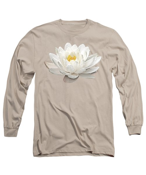 Water Lily Whirlpool Long Sleeve T-Shirt by Gill Billington