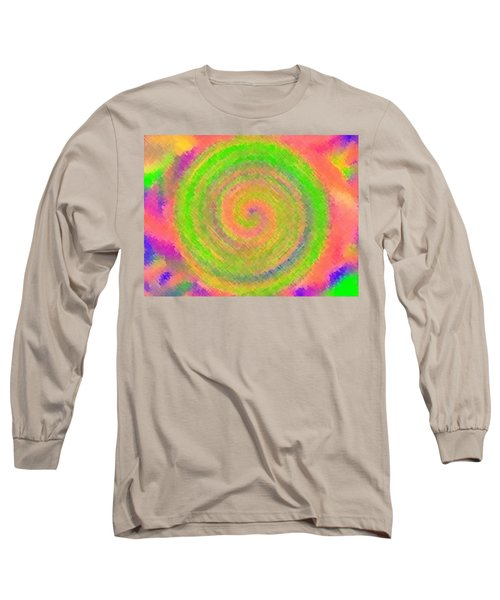 Long Sleeve T-Shirt featuring the digital art Water Melon Whirls by Catherine Lott