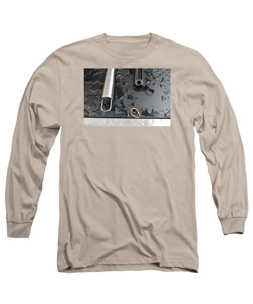 Long Sleeve T-Shirt featuring the photograph Water On The Bbq  by Lyle Crump
