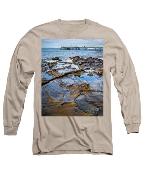 Long Sleeve T-Shirt featuring the photograph Water Pool by Perry Webster