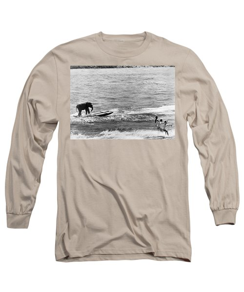 Water Skiing Elephant Long Sleeve T-Shirt