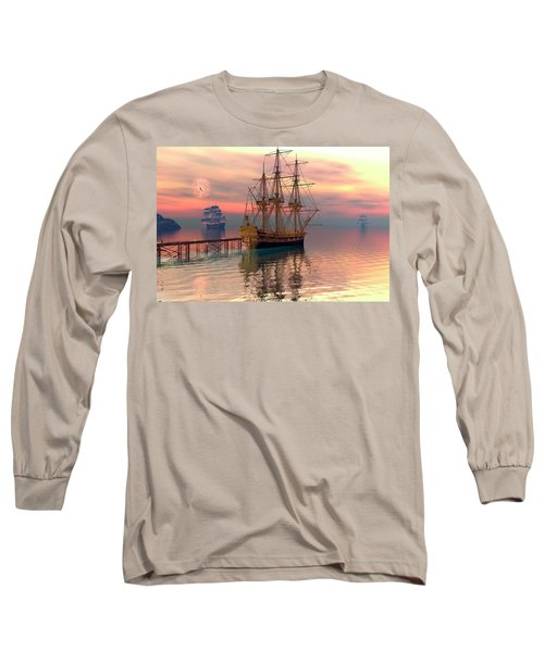 Long Sleeve T-Shirt featuring the digital art Water Traffic by Claude McCoy