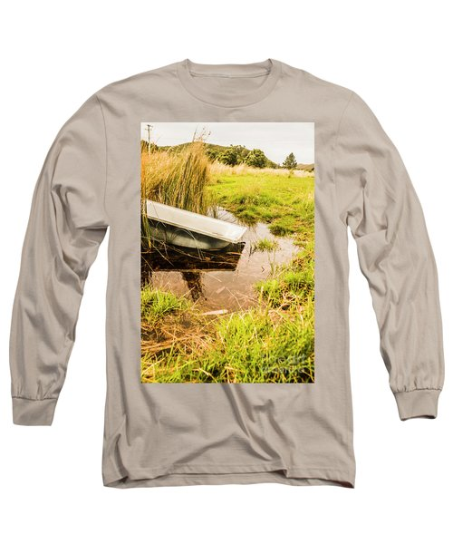 Water Troughs And Outback Farmland Long Sleeve T-Shirt