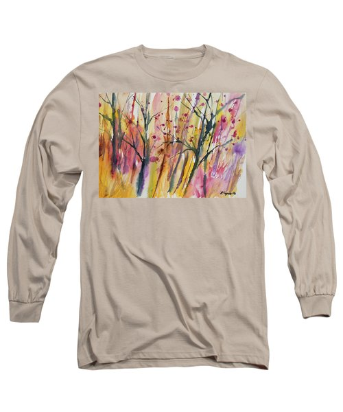 Watercolor - Autumn Forest Impression Long Sleeve T-Shirt