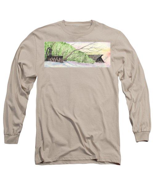 Watercolor Barn Long Sleeve T-Shirt