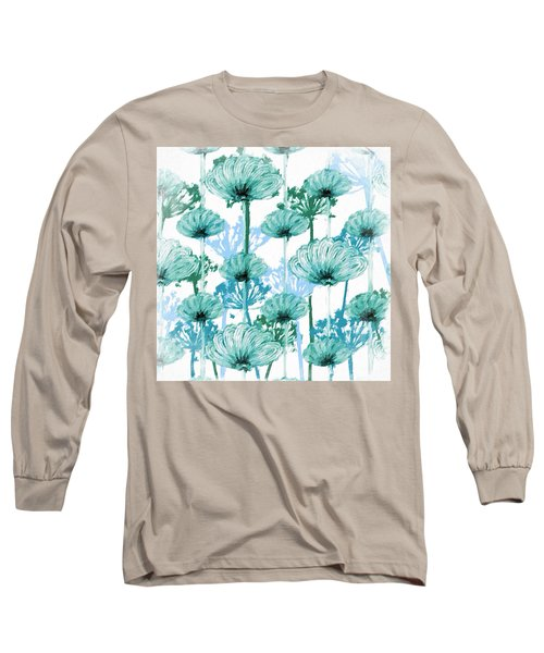 Watercolor Dandelions Long Sleeve T-Shirt by Bonnie Bruno