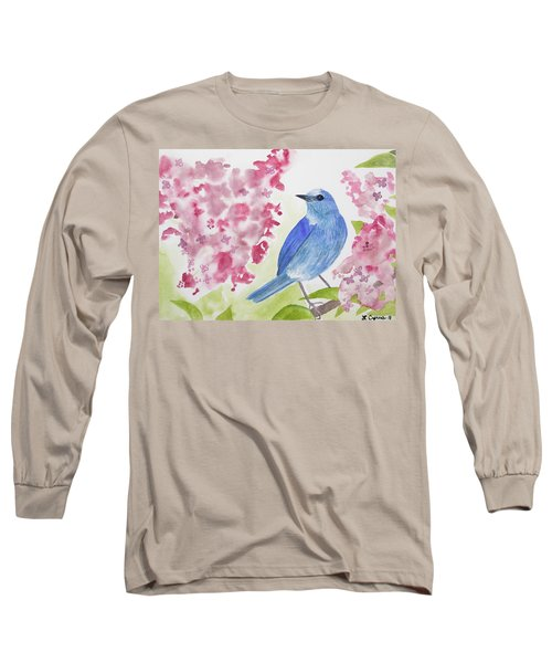 Watercolor - Mountain Bluebird Long Sleeve T-Shirt