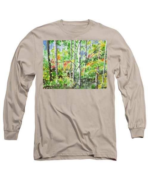 Watercolor - Northern Forest Long Sleeve T-Shirt