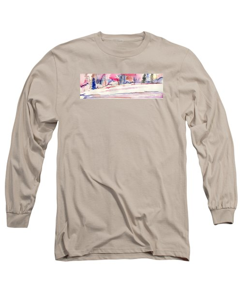 Watercolor River Long Sleeve T-Shirt by Darren Cannell