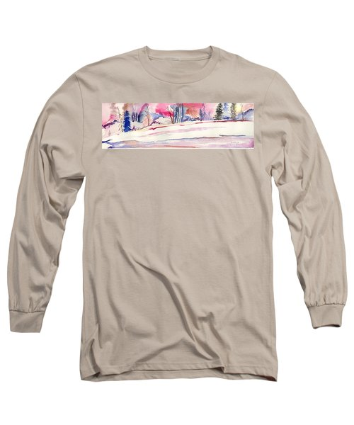 Watercolor River Long Sleeve T-Shirt
