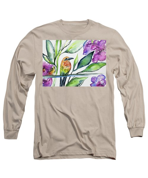 Watercolor - Rufous Motmot Long Sleeve T-Shirt