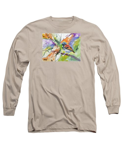Watercolor - Spotted Antbird Long Sleeve T-Shirt