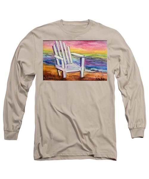 Watercolor White Chair Long Sleeve T-Shirt