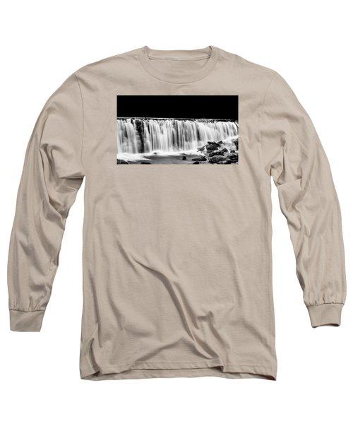 Waterfall At Night Long Sleeve T-Shirt by Wayne King