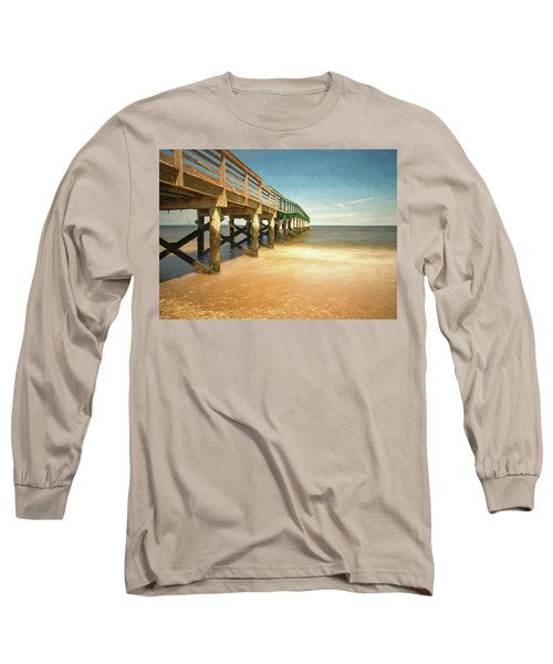 Long Sleeve T-Shirt featuring the photograph Waterfront Park Pier 1 by Gary Slawsky