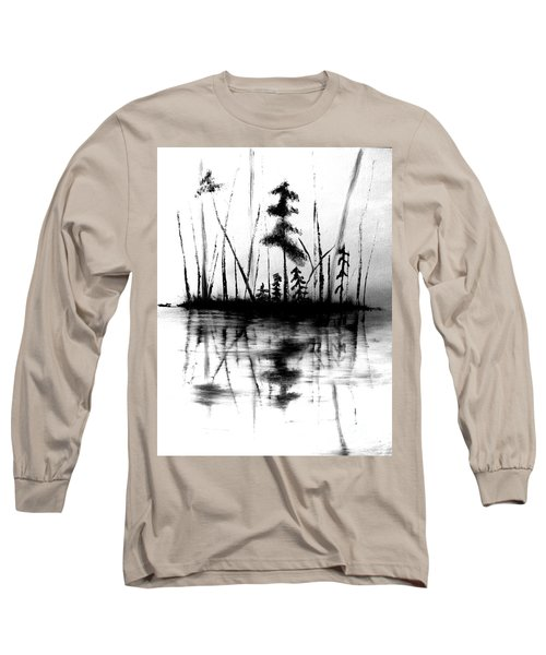 Long Sleeve T-Shirt featuring the painting Waters Edge by Denise Tomasura
