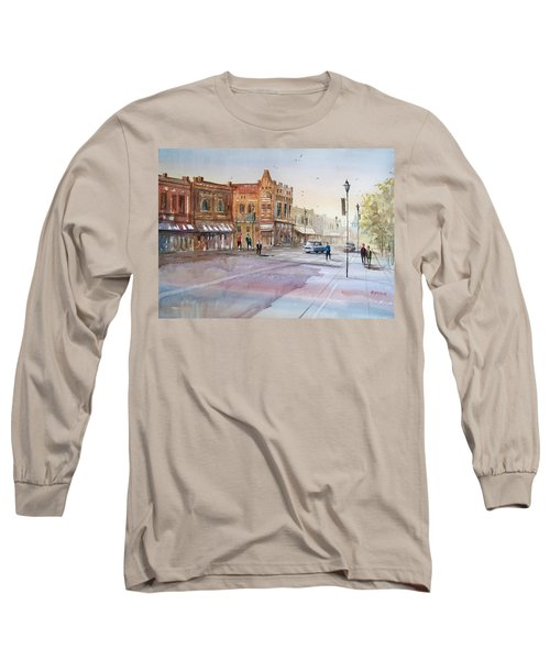 Waupaca - Main Street Long Sleeve T-Shirt by Ryan Radke