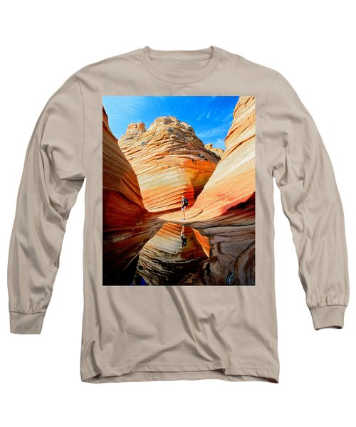 Wave Reflection Long Sleeve T-Shirt