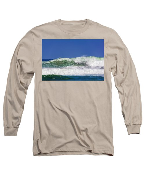 Wave Rolling To The Beach Long Sleeve T-Shirt