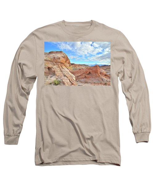 Waves Of Sandstone In Valley Of Fire Long Sleeve T-Shirt by Ray Mathis