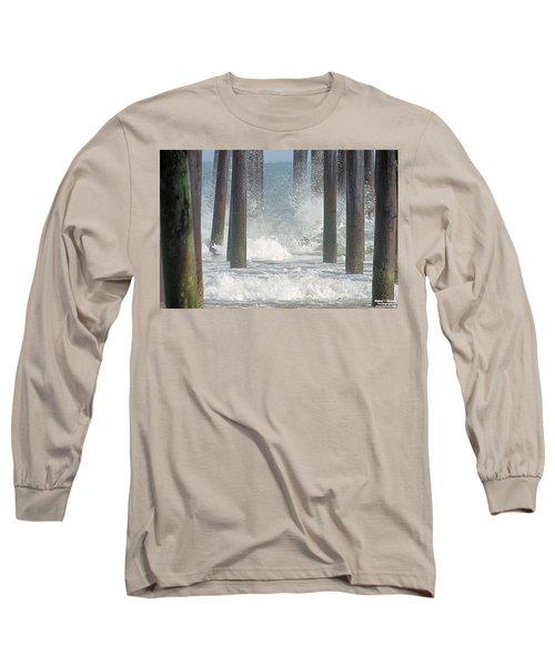 Waves Under The Pier Long Sleeve T-Shirt