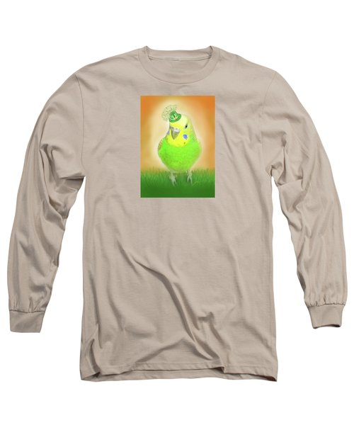 Long Sleeve T-Shirt featuring the digital art Wearin' Of The Green by Jean Pacheco Ravinski