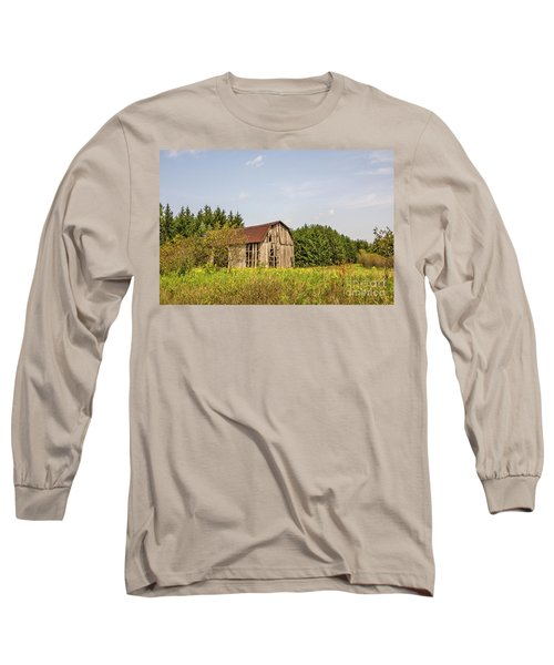 Weathered Barn Basking In The Summer Sun Long Sleeve T-Shirt