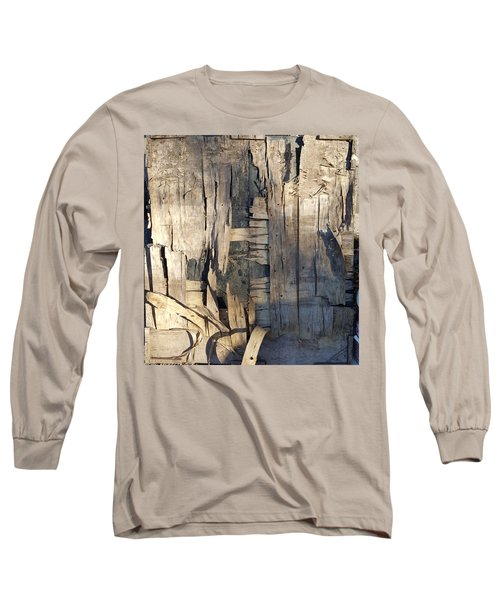 Weathered Plywood Composition Long Sleeve T-Shirt