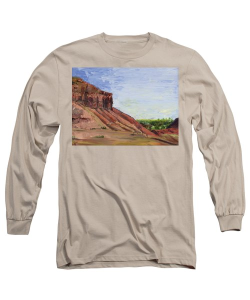 Long Sleeve T-Shirt featuring the painting Weber Sandstone by Jane Autry