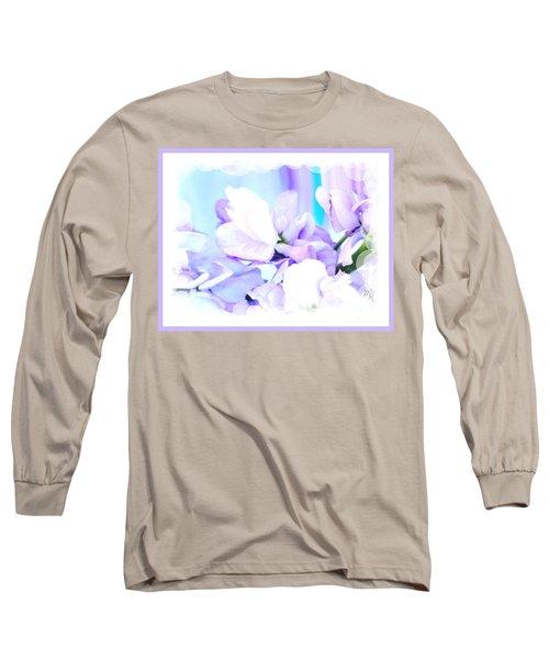 Wedding Flower Pedals Long Sleeve T-Shirt by Marsha Heiken