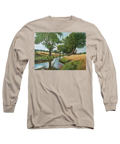 Weeping Willows At Beverley Brook Long Sleeve T-Shirt