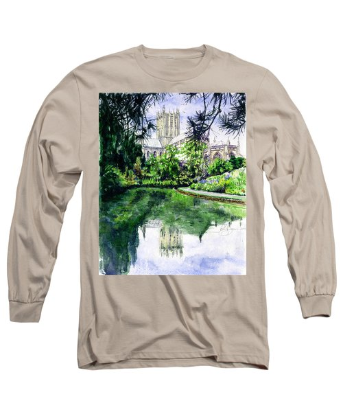 Wells Cathedral Long Sleeve T-Shirt by John D Benson