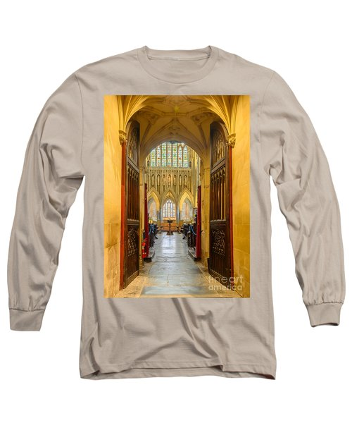 Wellscathedral, The Quire Long Sleeve T-Shirt by Colin Rayner