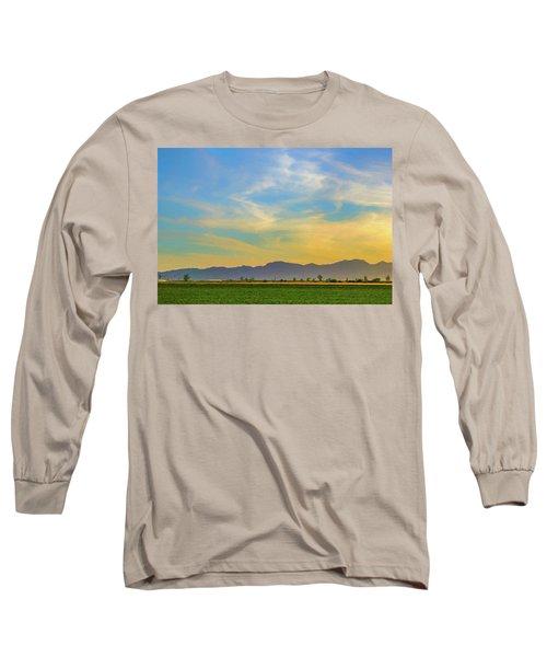 West Phoenix Sunset Digital Art Long Sleeve T-Shirt