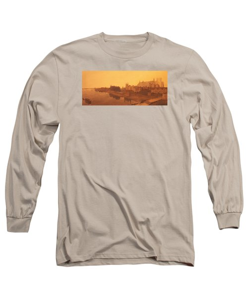Westminster Abbey  Long Sleeve T-Shirt by Peter de Wint
