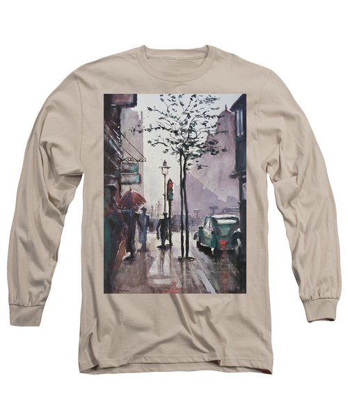 Long Sleeve T-Shirt featuring the painting Wet Afternoon by Geni Gorani