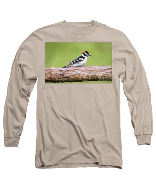 Long Sleeve T-Shirt featuring the photograph Wet Downy Woodpecker  by Ricky L Jones