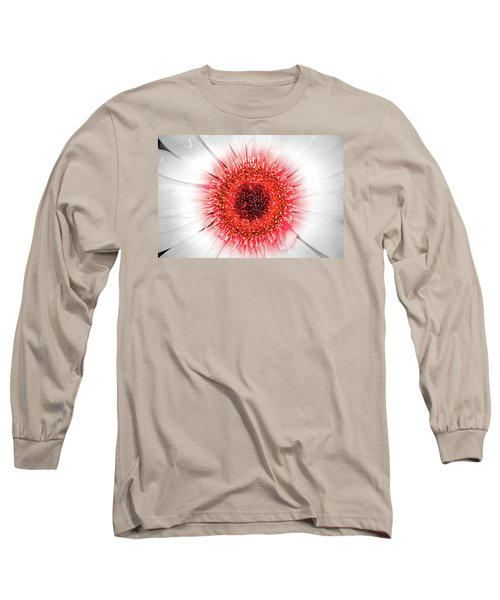 Wet Gerbera With Splash Of Color Long Sleeve T-Shirt