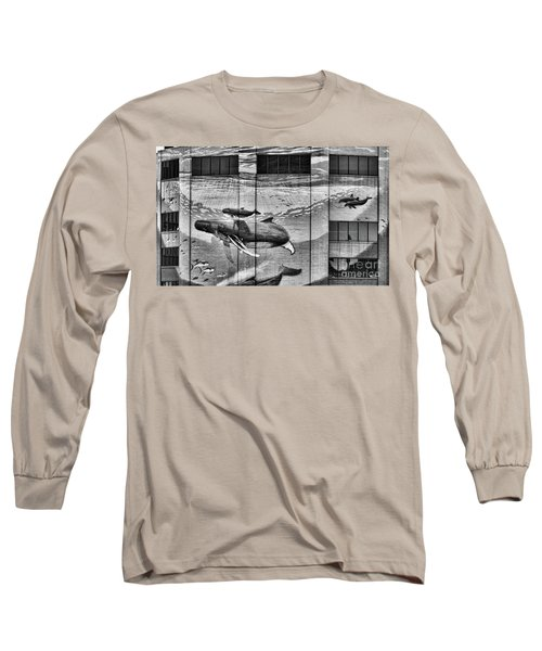 Whales Mural Building Penn Long Sleeve T-Shirt