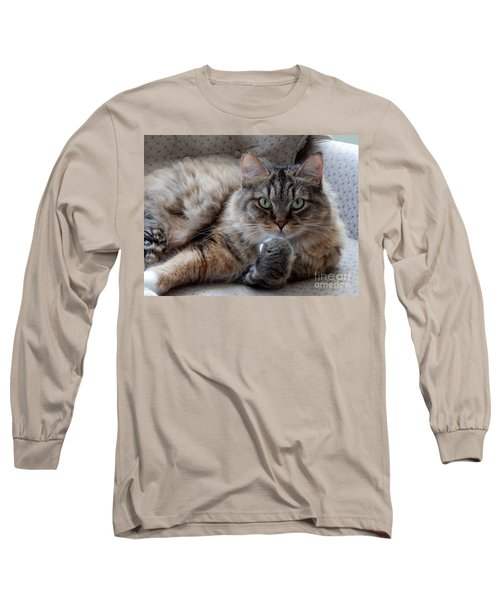 What Did You Say? Long Sleeve T-Shirt by Marcia Lee Jones