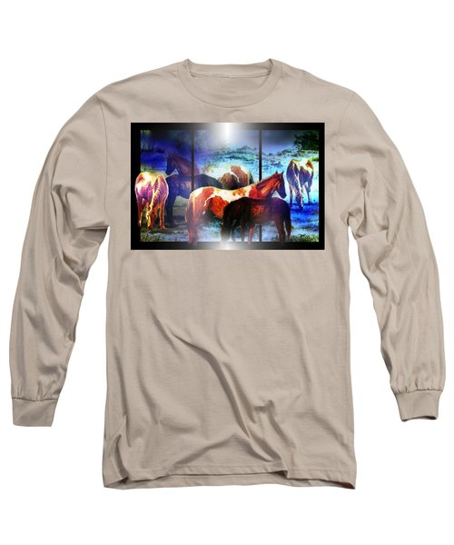 What  Horses Dream Long Sleeve T-Shirt by Hartmut Jager
