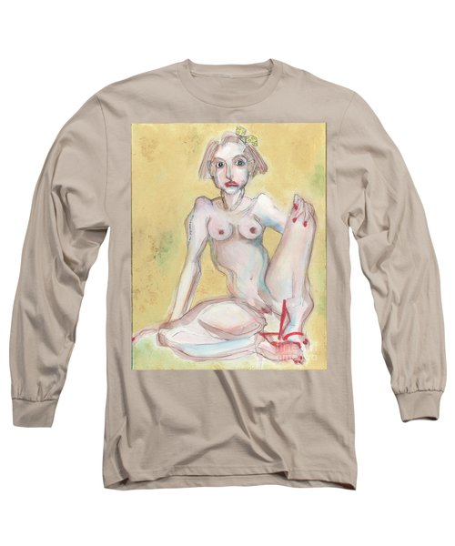What It Was Really Like - Self Portrait Long Sleeve T-Shirt by Carolyn Weltman