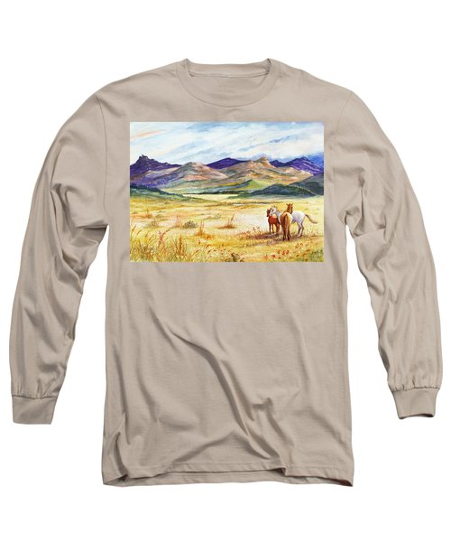 Long Sleeve T-Shirt featuring the painting What Lies Beyond by Marilyn Smith