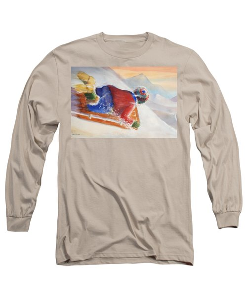 Long Sleeve T-Shirt featuring the painting Wheee by Marilyn Jacobson